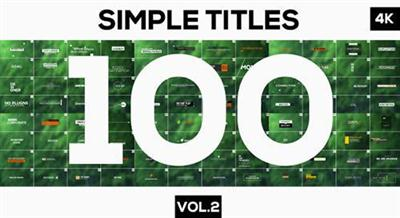 100 Simple Titles and Lowerthirds Vol.2 - Project for After Effects (Videohive)