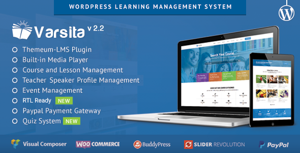 Varsita v2.2 - WordPress Learning Management System