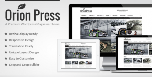 [nulled] Orion Press v2.7.4 - Retina and Responsive Magazine Theme logo
