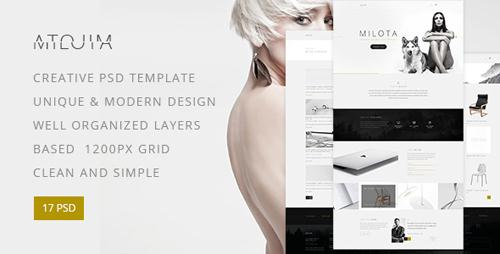 Milota ? Modern Personal/Studio Portfolio and Blog PSD Template 17370707