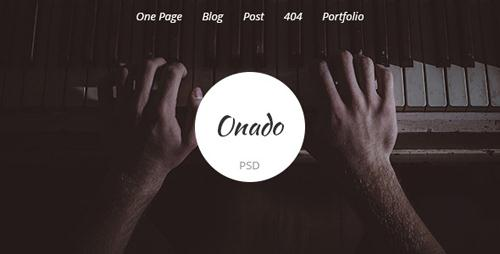 Onado - One Page PSD Template 9857958
