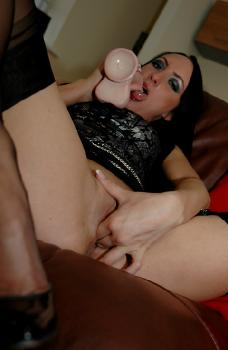 Chloe - Huge Dildo and Stockings