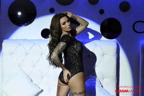 Stripping Naked From Her Bodysuit Gemma Massey Looks Stunning