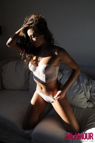 Chloe Goodman On The Couch Getting Naked From Her Cute Lingerie
