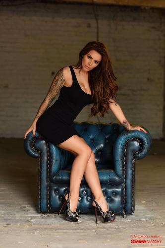 Tight Black Dress Is What Gemma Massey Is Showcasing Her Hot Bod
