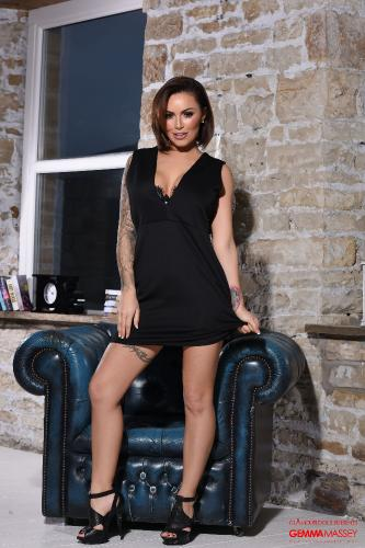 Gemma Massey Working That Body In Her Tight Black Dress