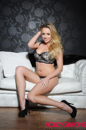 Holly Gibbons Strips Naked From Her Grey Lingerie