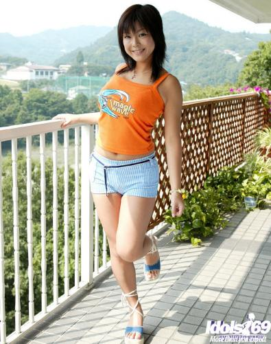 Sayaka - Sayaka Japanese Model Enjoys Showing Off Her Big Tits As She Poses
