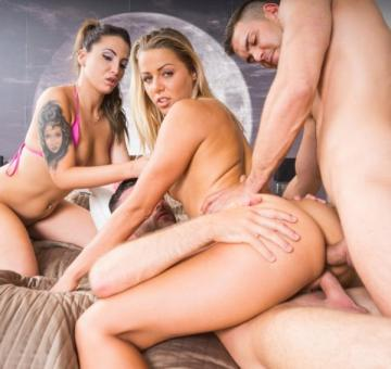 Christen Courtney, Medusa - Christen Courtney and Medusa Star in a DP and Anal Orgy (2016) HD 720p