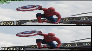 Первый мститель: Противостояние 3D / Captain America: Civil War 3D ( by Ash61) Вертикальная анаморфная