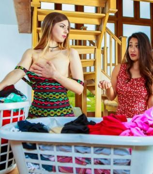 Eva Lovia, Stella Cox - Evas Dirty Laundry (2016) HD 720p