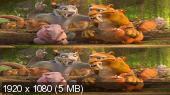 Без черных полос (На весь экран) Ледниковый период: Столкновение неизбежно 3D / Ice Age: Collision Course 3D  Вертикальная анаморфная стереопара